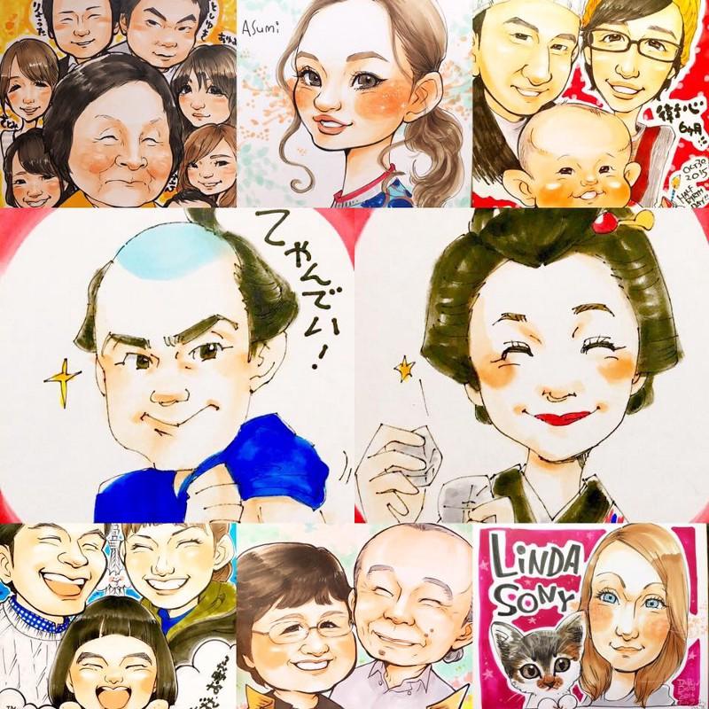 「好きな江戸言葉からのお任せイメージで江戸っ子になれちゃう似顔絵」ですって!渋谷ロフト1F よしえのにがおえ屋さんへGO!