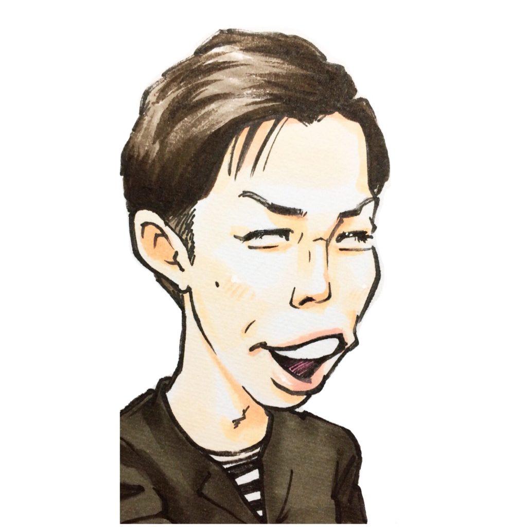 マジェリン作/ハライチ岩井さんの似顔絵
